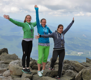 CRC ladies at the top of Mt Washington