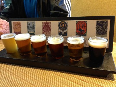 Sampler at Odells brewery!