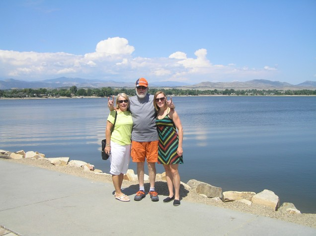 My Mom, my Uncle, and me in Loveland