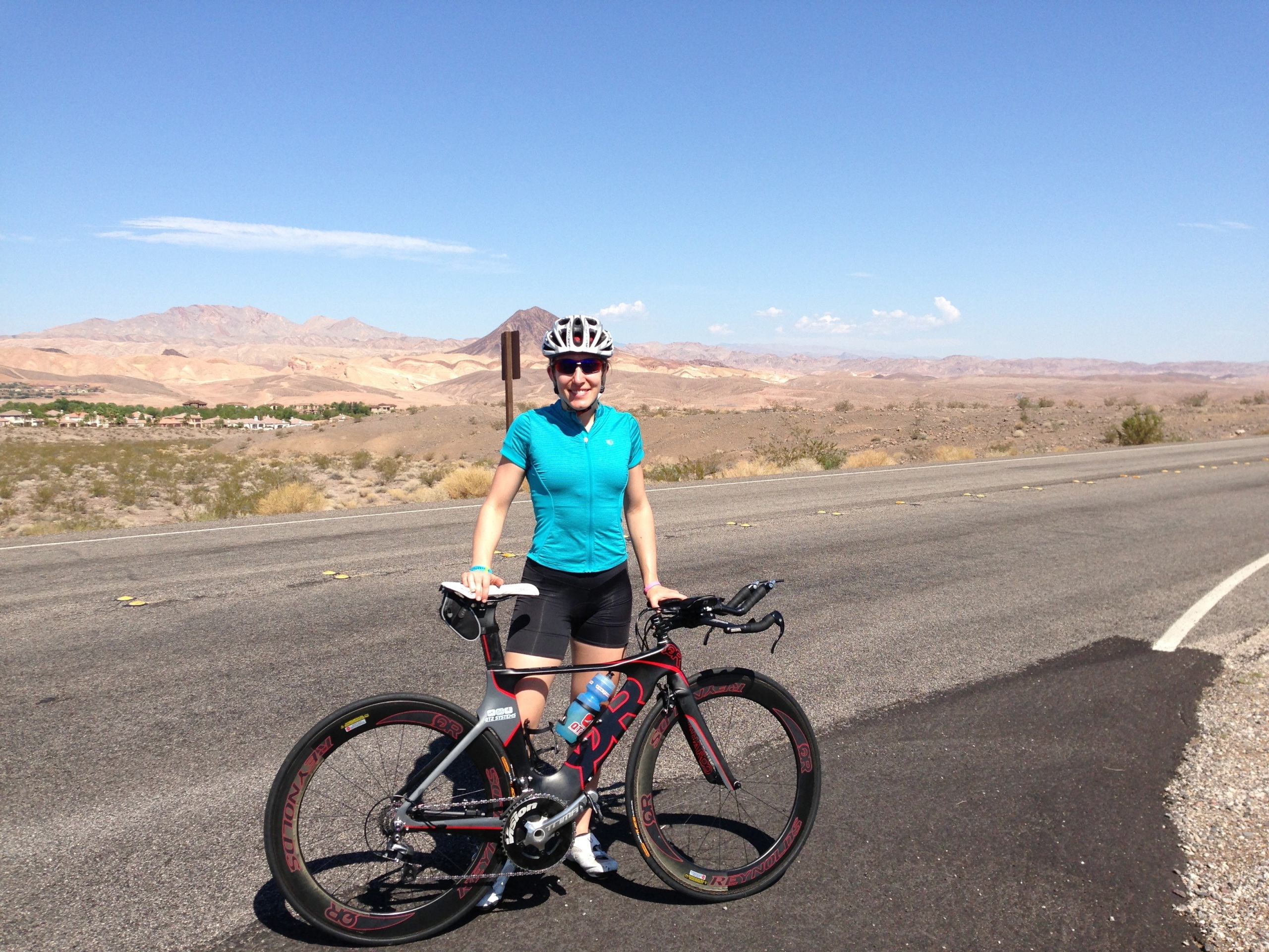 Riding on the bike course before 2013 Ironman 70.3 World Championships