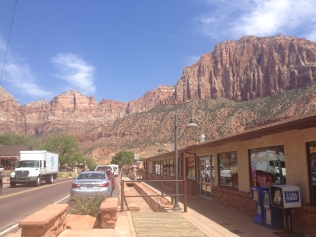 Heading into Zion National Park