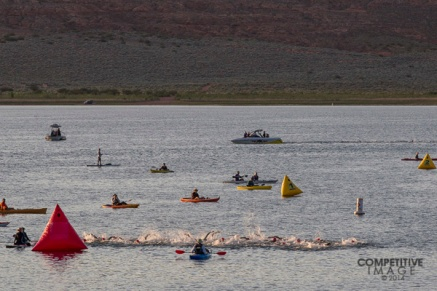 Women's start at the Ironman 70.3 St. George