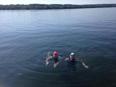 Got some great open water swims in the lake