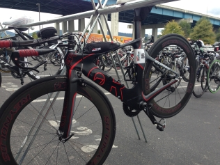 Bike racked and ready to roll