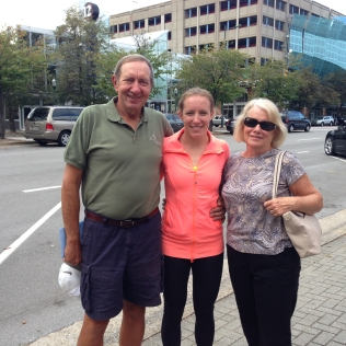 Me and my parents in downtown Chattanooga