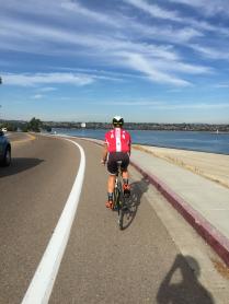 Matt cruising around Mission Bay