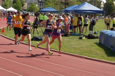 Running a mile race. Ouch!